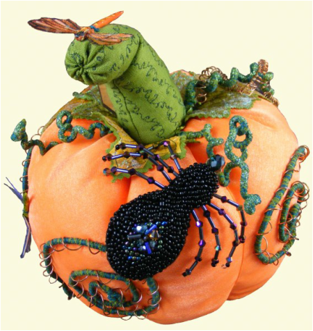 Picture of a Woodland Fairy Tale Pumpkin with Spider Brroch